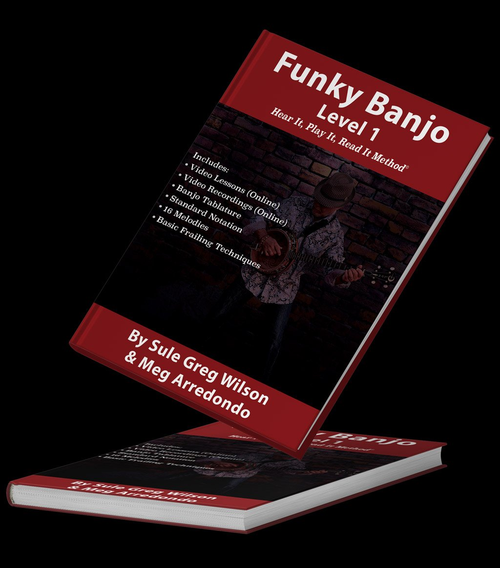 The Funky Banjo book with an outline of the features that are included in the book.
